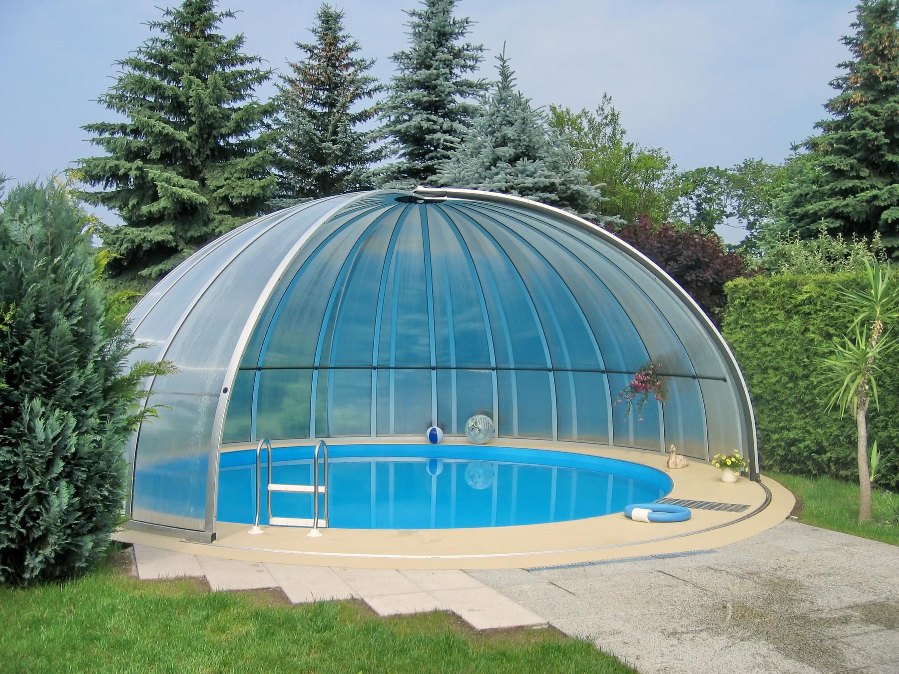 Как построить павильон для бассейна своими руками